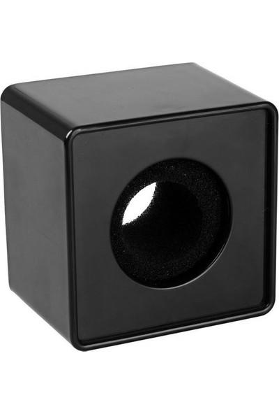 Soundizayn Etiket Yapıştırılabilir Kare Küp Röportaj Mikrofon Aksesuarı - Siyah