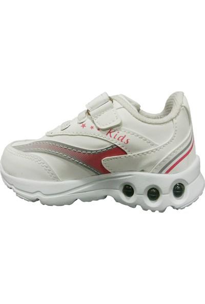 Armix 3042 Beyaz Pembe Işıklı Çocuk Spor Ayakkabı