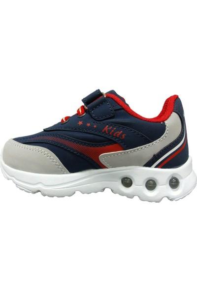 Armix 3042 Lacivert Kırmızı Işıklı Çocuk Spor Ayakkabı