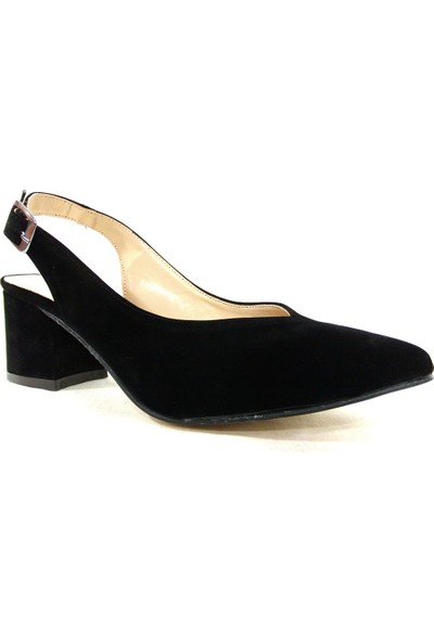 Zenay 313 Siyah Tokalı Kadın Ayakkabı