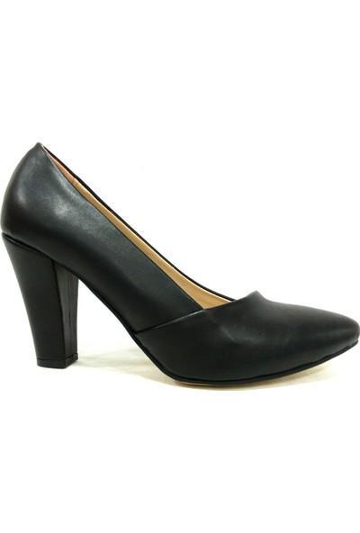 Zenay 1610 Siyah Topuklu Stiletto Kadın Ayakkabı