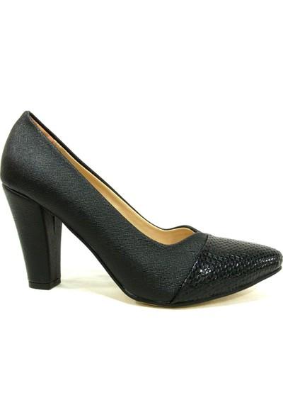Zenay 1620 Siyah Topuklu Stiletto Kadın Ayakkabı