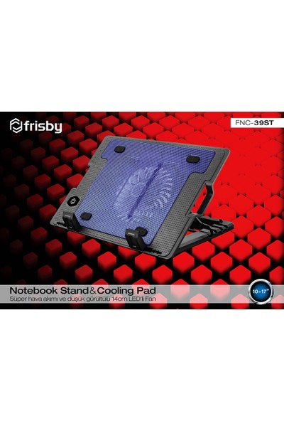 "Frisby FNC-39ST 14cm Fan 2USB Port 10""-17"" Uyumlu Notebook Soğutucu"