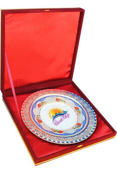 Antalya Dünya Bayrak Porselen Tabak Plaket Gümüş Tabak