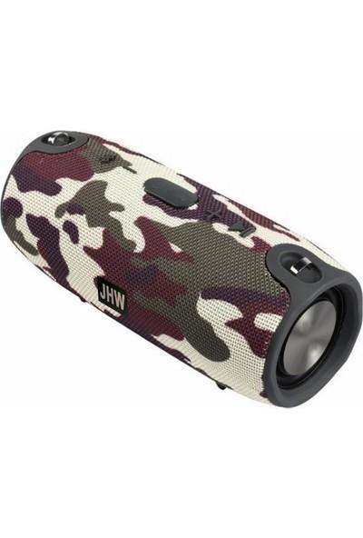 Twinix Jhw Su Geçirmez Taşınabilir Bluetooth Hoparlör Kablosuz Ses Bombası Orta Boy + Taşıma Askısı