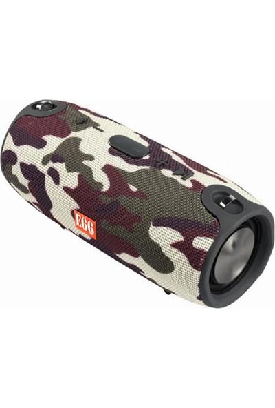 Twinix E66 Taşınabilir Bluetooth Hoparlör Su Geçirmez Kablosuz Ses Bombası Küçük Boy + Taşıma Askısı