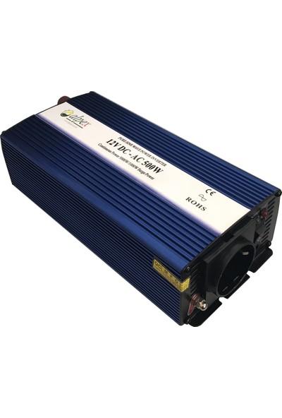Alpex Tam Sinüs Inverter 500 W 12 V