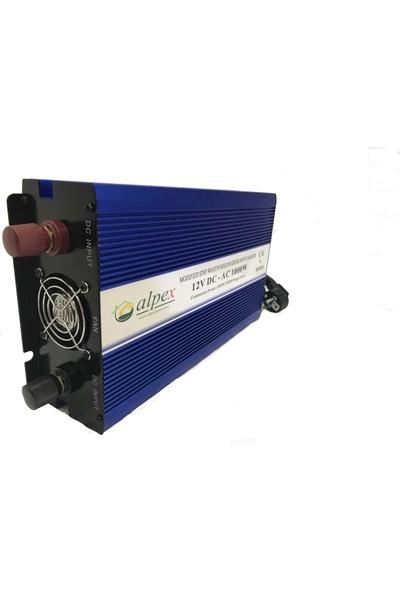 Alpex Tam Sinüs Inverter 1500 W 12 V
