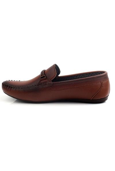 Pabucmarketi Comfort Taba Cilt Erkek Yazlık Ayakkabı