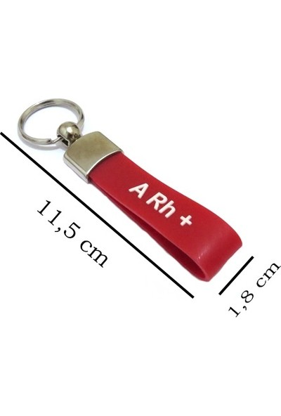Idea A Rh + Kan Grubu Silikon Kauçuktan Anahtarlık 1 Adet