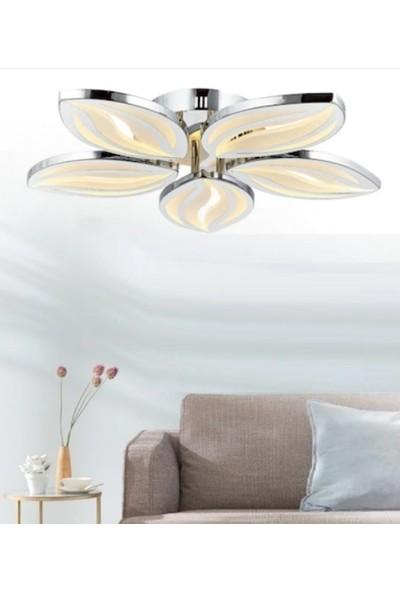 Burenze A+ Modern Plafonyer Power LED Avize Yaprak Desenli Kademeli 3renk
