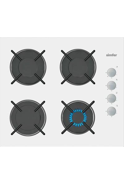 Simfer Akasya Beyaz Dijital Ankastre Cam Set (7330 Fırın + 3507 Ocak + 8668 Davlumbaz)