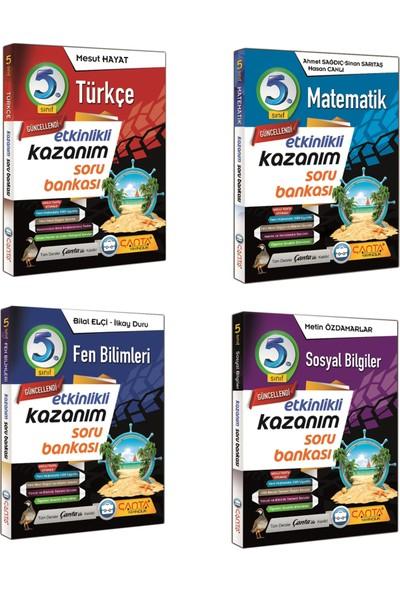 Çanta Yayınları 5. Sınıf Kazanım Türkçe Matematik Fen ve Sosyal Soru Bankası Seti