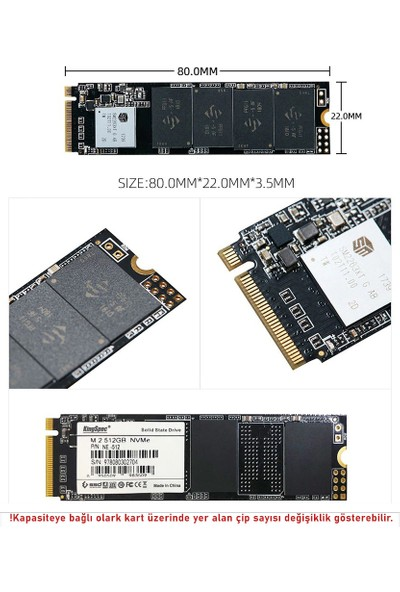 KingSpec NE Series 2280 512GB 2400MB-1700MB/s NVMe M.2 SSD