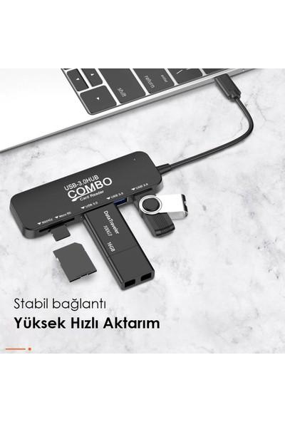 Techstorm Combo Type-C USB 3.0 Çoğaltıcı Micro SD Kart Okuyucu HUB
