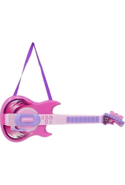 Mega Oyuncak Mikrofon Gitar Seti Pembe 6969-61