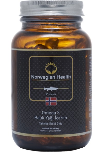 Norwegian Health Omega-3 60 Kapsül 1000 mg