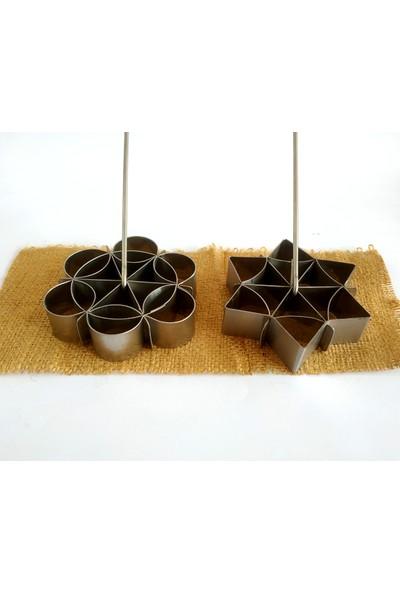 Nar Kalıp Demir Tatlısı Kalıbı 2'li Set Model NO-D001