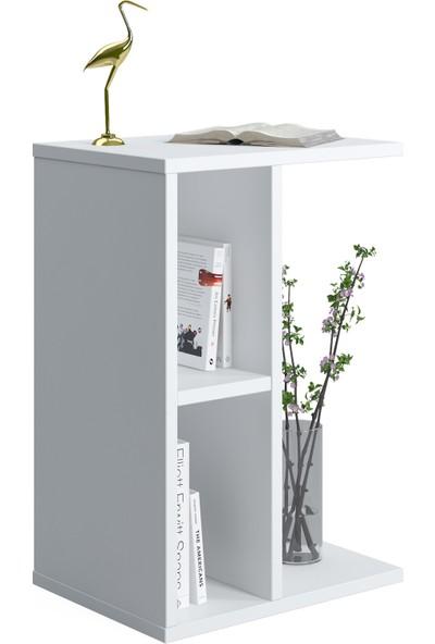 Ruum Store By Doğtaş Slot Yan Sehpa Raflı Opak Beyaz