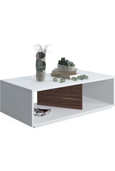 Ruum Store By Doğtaş Cury Orta Sehpa Ceviz Beyaz