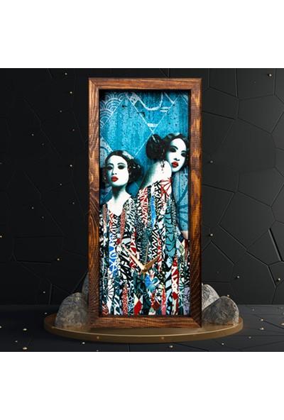 Arti2tr Dekoratif Hush Temalı 3D Duvar Saati