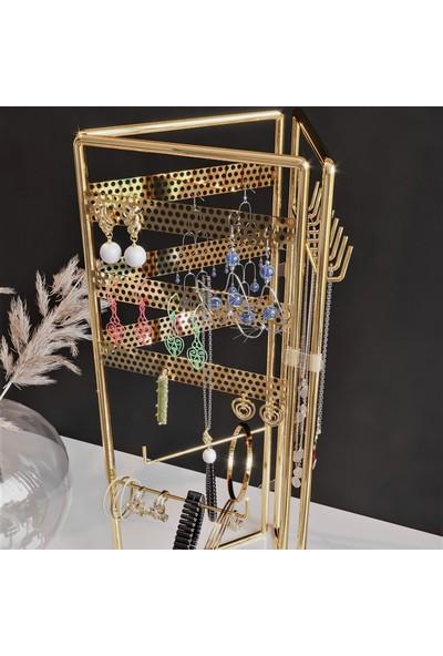 Bino Gold Altın 3'lü Bino Gold Altın 3'lü Takı Standı Takılık Organizer Takılık,Organizer