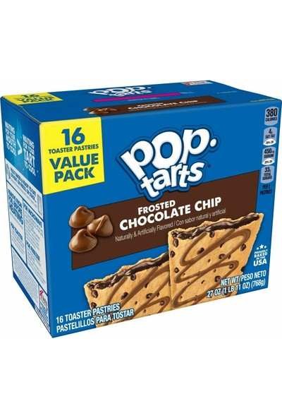 Pop Tarts Frosted Chocolate Chip Value Pack 16 768G