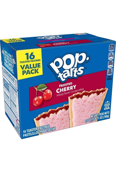 Pop-Tarts Breakfast Toaster Pastries, Frosted Cherry Dolgulu Bisküvi 768G