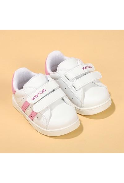 Sanbe 128R5401 İlk Adım Kız Çocuk Spor Ayakkabı Beyaz