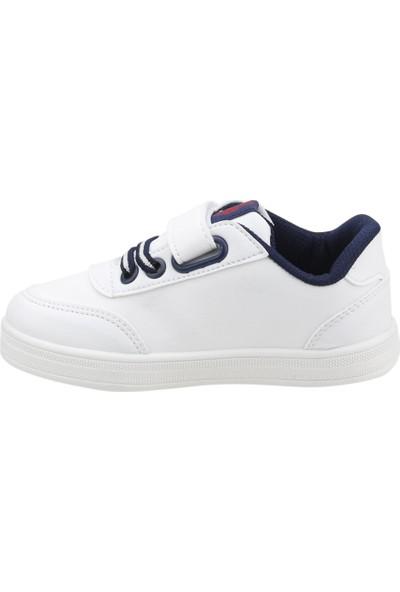U.s. Polo Assn Cameron Wt Kız/Erkek Çocuk Spor Ayakkabı Beyaz
