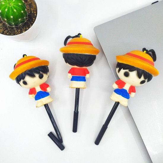 Squishy Jel Mürekkep Kalem Sevimli One Piece Luffy