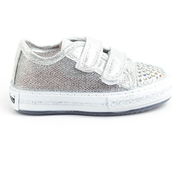 Minipicco Kız Çocuk Gümüş Spor Ayakkabı