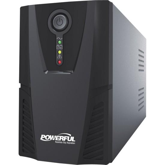 Powerful PL-1500 1500VA 1,5KVA 900W Line Interactive Ups Kesintisiz Güç Kaynağı (Gaming UPS)