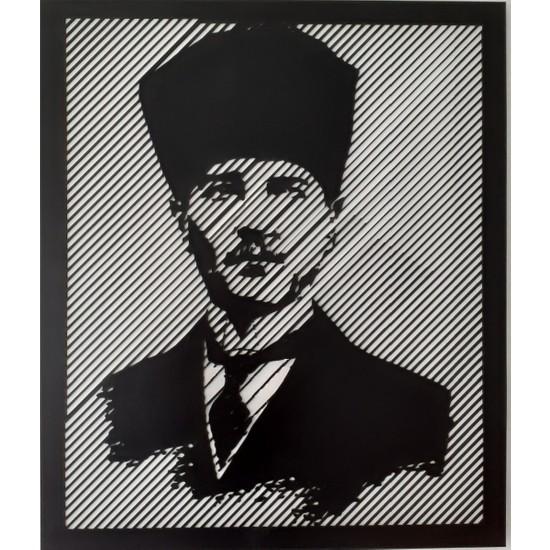 Tsd Dekorasyon Lazer Kesim Mdf Tablo Atatürk