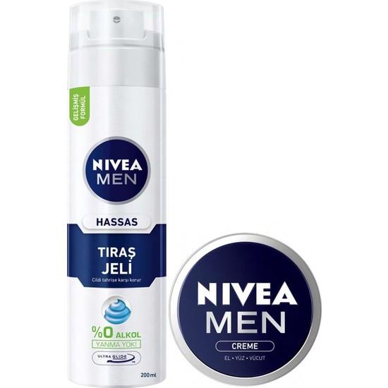Nıvea Tıraş Jeli Hassas + Men Crème 30 ml