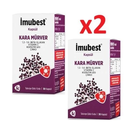 Imubest Beta Glukan Kara Mürver 2X30 Kapsül