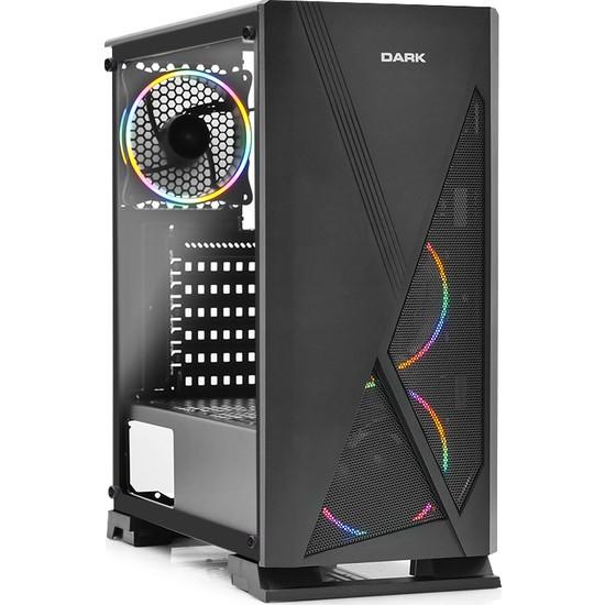 Dark AMD Ryzen 5 2600 8GB 1TB 240GB SSD 8GB RX570 Freedos Masaüstü Bilgisayar (DK-PC-G626)