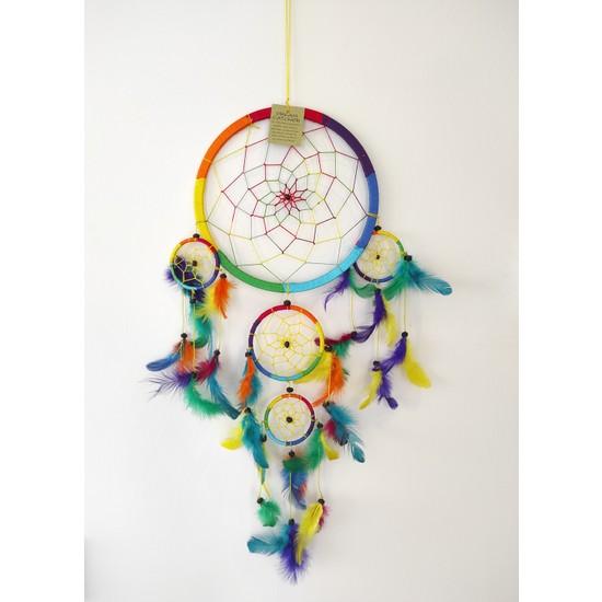 Arte Casero Düş Kapanı Rüya Kapanı Dream Catcher 22cm Renkli