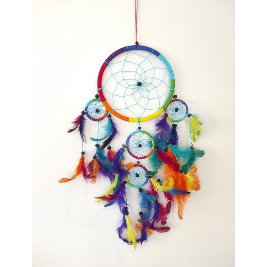 Arte Casero Düş Kapanı Rüya Kapanı Dream Catcher 17cm Renkli