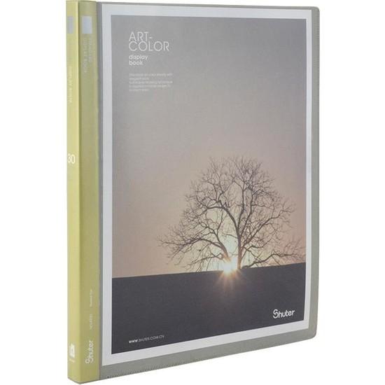 Shuter A4 Dış Cepli Sunum Dosyası 30lu Gri Renk A930