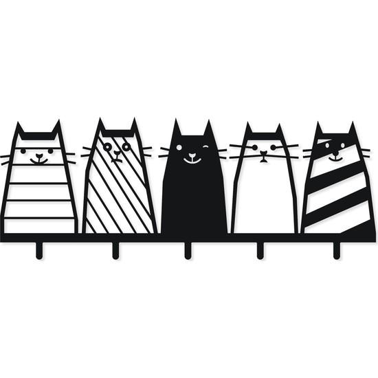 M&c Concept Cats Metal Elbise Askılığı Siyah