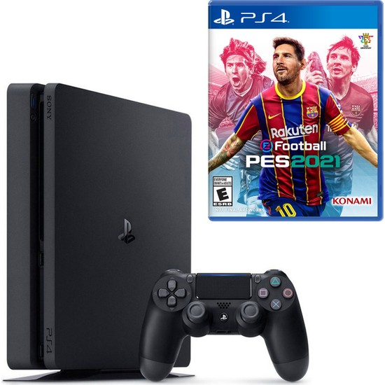 Sony PS4 Slim 1TB Konsol + PS4 Pes 2021