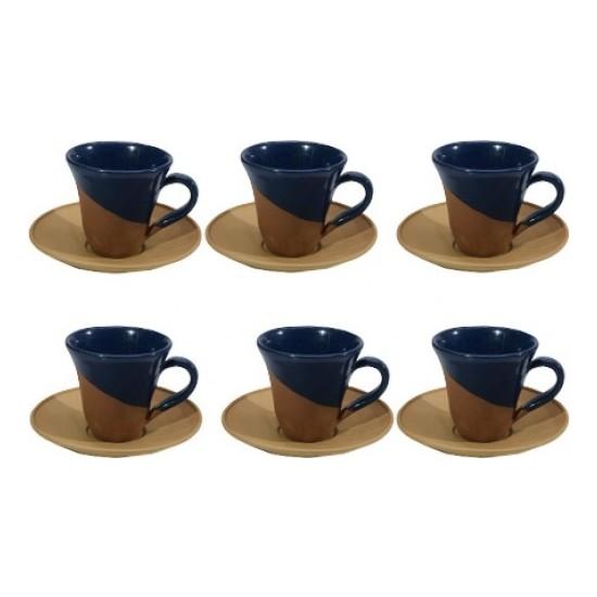 Çömlekçi Comlekcı Kahve Takımı Toprak 6'lı