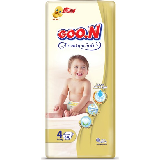 Goon Premium Soft Bebek Bezi 4 Beden Jumbo Paket 34 x 4