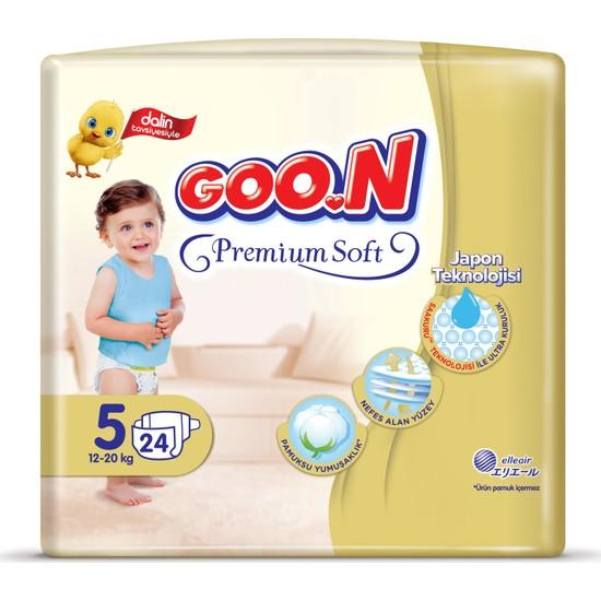 Goon Bebek Bezi Premium Junior 5 No 24 Lü x 4
