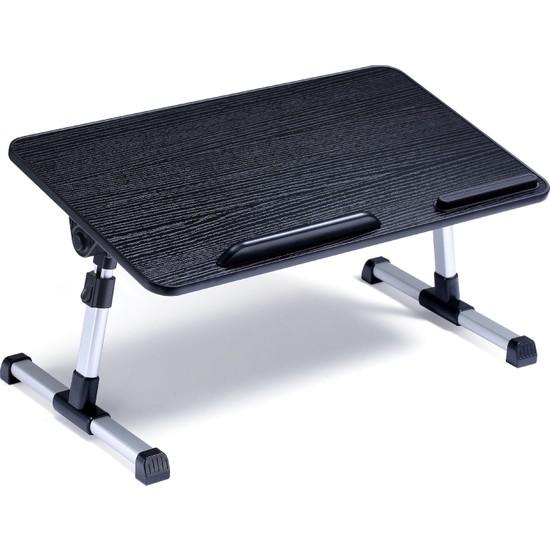 iDock D1 Açısı ve Yüksekliği Kademeli Ayarlı Yatak Kucak Sehpa Bilgisayar Standı Siyah