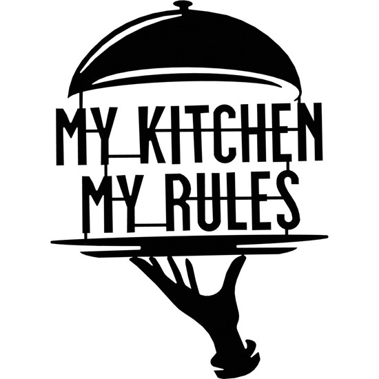 World Metal Art My Kitchen My Rules Metal Tablo