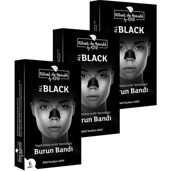 3 x Rituel De Beaute Siyah Nokta ve Kir Temizleyici Burun Bandi (Toplam 3 Adet)