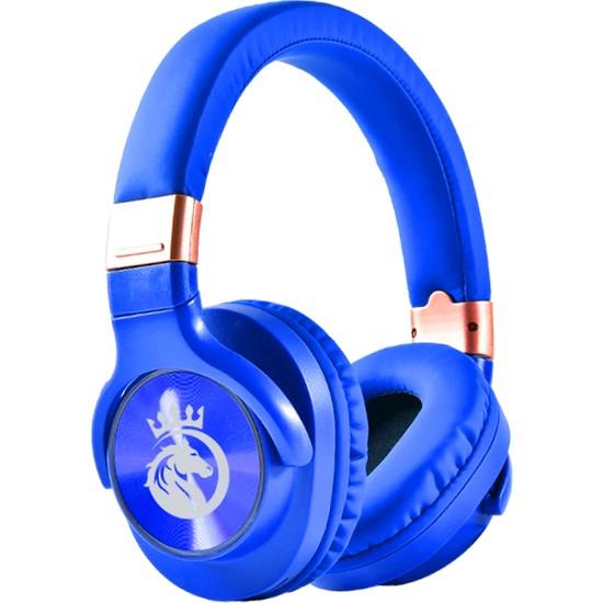 Rosstech BT760 Kablosuz Bluetooth 5.0 Gürültü Azaltıcı Kulak Üstü Kulaklık - Mavi