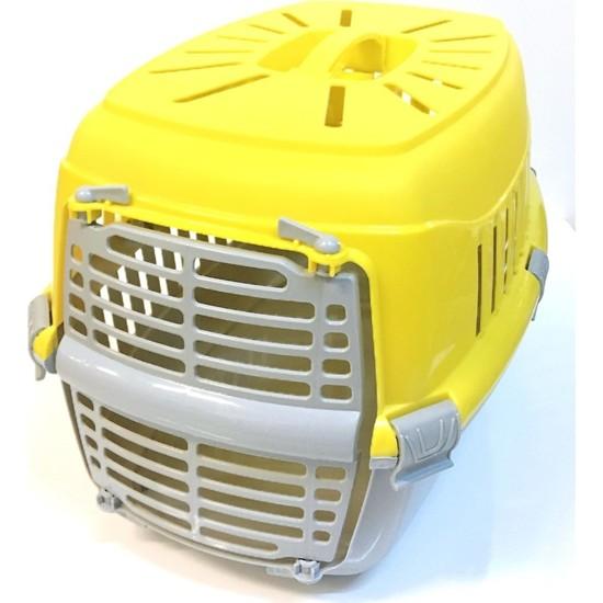 Full Reyon Kedi Köpek Taşıma Çantası Evcil Hayvan Taşıma Sepeti Sarı